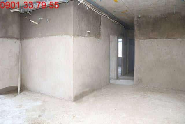 Thi công tô tường bao căn hộ đến tầng 8 - Block B căn hộ Florita HimLam