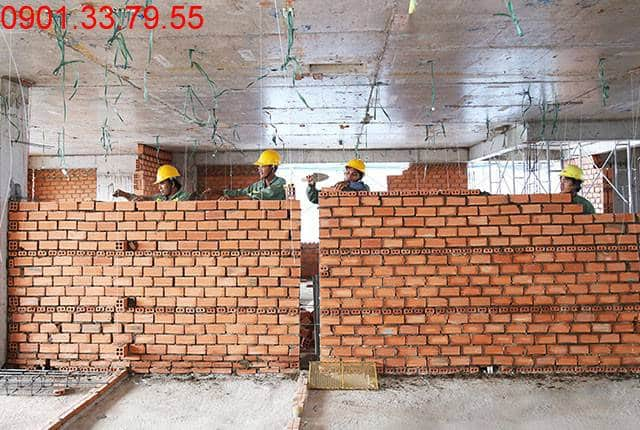 Xây tường bao căn hộ tầng 8 Block A chung cư Lavita Garden Thủ Đức