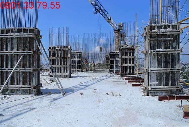 Thi công cột sàn tầng 12 - Block B chung cư 9 View quận 9