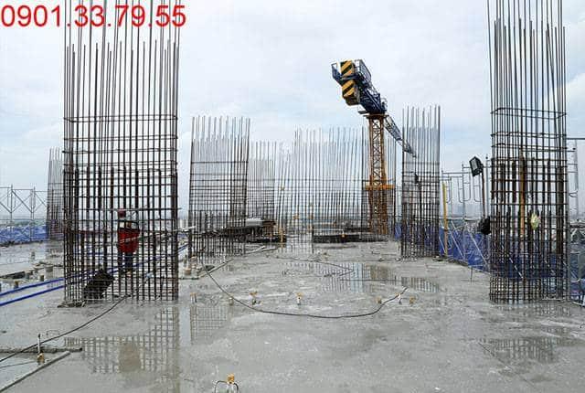 Đổ bê tông sàn tầng 14 Block B chung cư 9 View quận 9