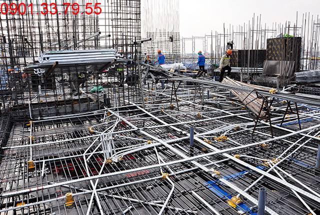 Chuẩn bị đổ bê tông sàn tầng 7 block C căn hộ Monlight Park View Bình Tân