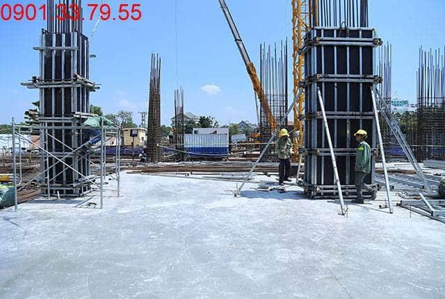 Hoàn thành đổ bê tông sàn tầng 1 - block Central căn hộ Sài Gòn Mia Hưng Thịnh