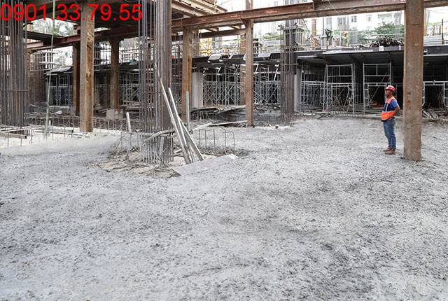 Thi công sàn tầng hầm 2 - block Central dự án Saigon Mia Trung Sơn