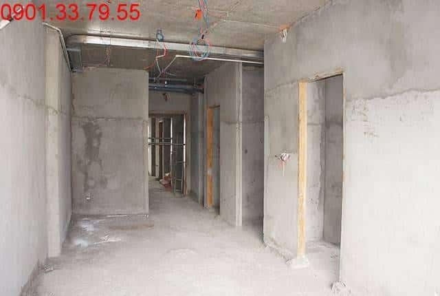 Tô tường căn hộ tầng 14 block A, B căn hộ Sky Center Hưng Thịnh