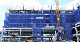 Thi công cốt thép sàn tầng 7 Block C Block B chung cư 9 View quận 9