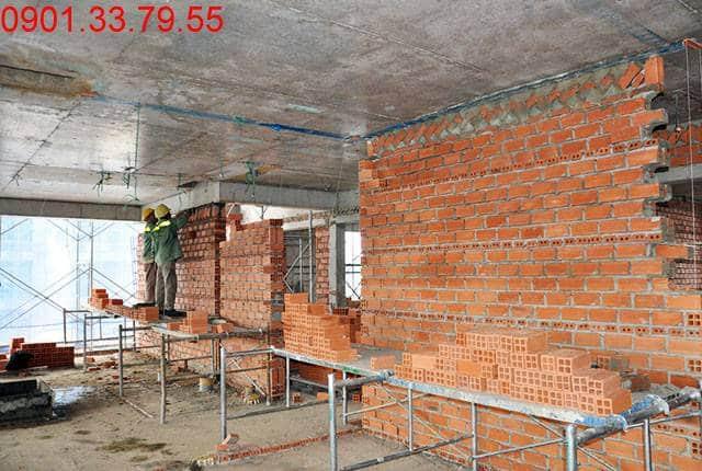 Xây tường bao căn hộ tầng 7 Block B căn hộ Lavita Garden Hưng Thịnh