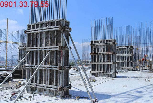 Thi công cột sàn tầng 12 - Block B chung cư 9 View Apartment