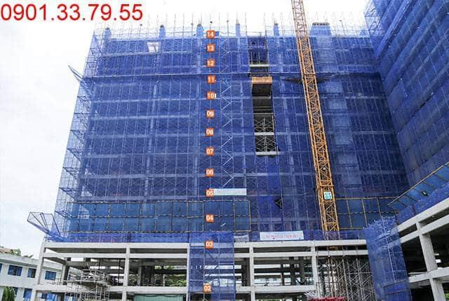 Thi công cột sàn tầng 15 Block C chung cư 9 View Apartment