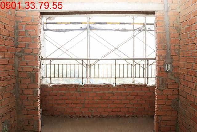 Lắp lan can ban công tầng 10 Block A can ho Lavita Garden Hưng Thịnh