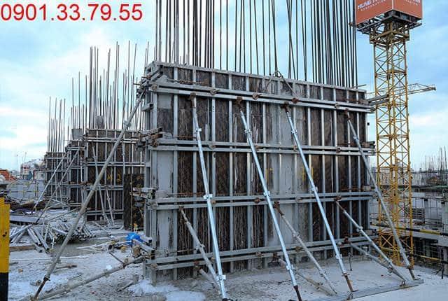 Hoàn thành đổ bê tông sàn tầng 4 và thi công cột sàn tầng 5 block C dự án Monlight Park View Bình Tân