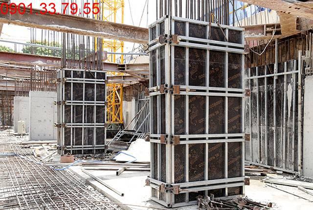 Thi công cột sàn tầng hầm B1 block A, B dự án chung cư Moonlight Residences