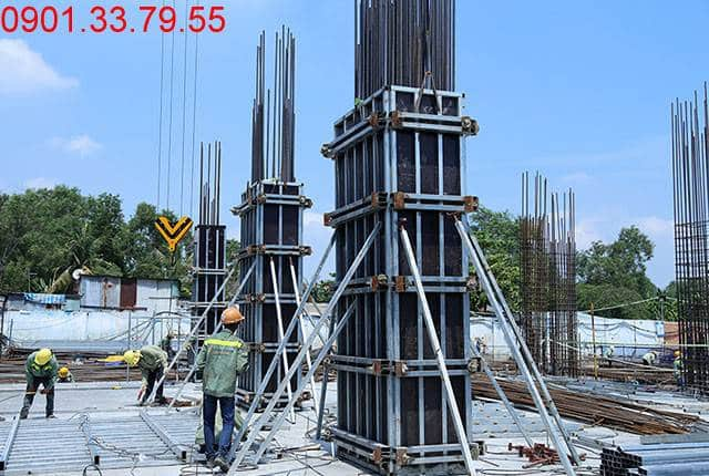 Thi công cột sàn tầng 2 - block Central dự án Sài Gòn Mia Hưng Thịnh