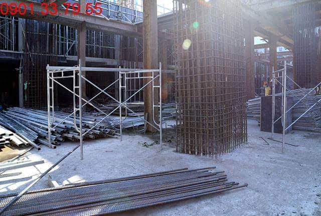 Thi công sàn tầng hầm 2 - block Central căn hộ Sài Gòn Mia Hưng Thịnh