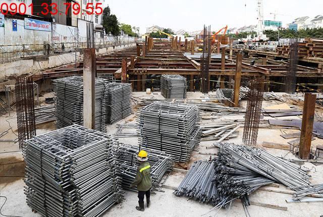 Thi công sàn tầng hầm 2 - block Central chung cư Saigon Mia Trung Sơn