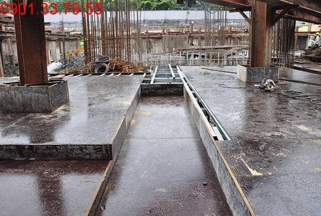 Thi công 40% cốp pha dầm sàn tầng B1 - block Southern can ho Saigon Mia Hưng Thịnh