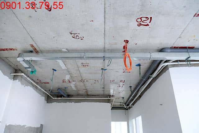Thi công hệ thống M&E đến tầng 15 - Block B chung cư Florita HimLam