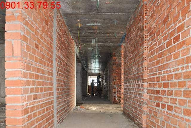 Xây tường bao căn hộ tầng 7 Block B chung cư Lavita Garden Hưng Thịnh