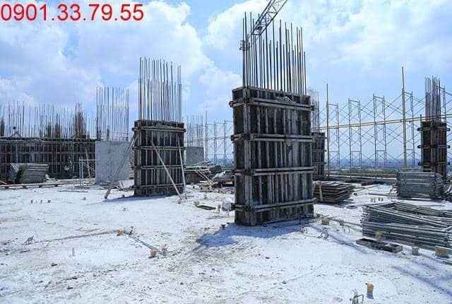 Thi công cột sàn tầng 12 - Block B dự án 9 View hưng Thịnh