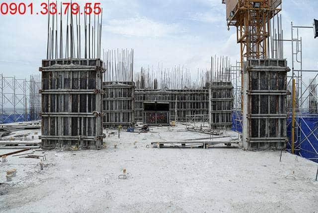 Thi công cột sàn tầng 15 Block C dự án 9 View hưng Thịnh