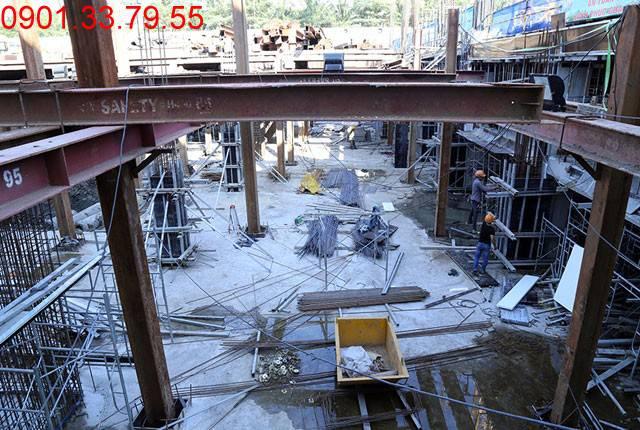 Thi công sàn tầng hầm 2 - block Central chung cư Sài Gòn Mia Hưng Thịnh