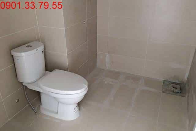 Công tác lắp đặt thiết bị vệ sinh tầng 7, 9, 10, 11 block A căn hộ Melody Vũng Tàu