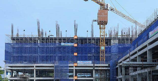 Đổ bê tông sàn tầng 6 Block C dự án 9 View hưng Thịnh