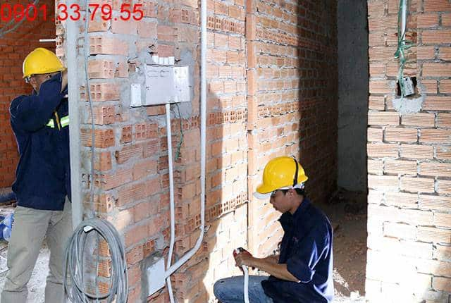 Thi công hệ thống M&E đến tầng 11 - Block B dự án căn hộ florita Him Lam