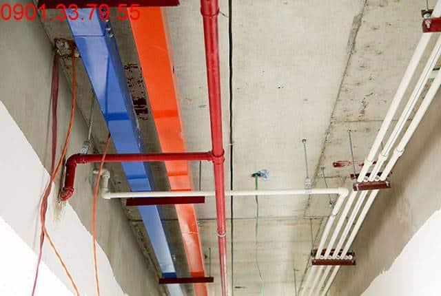 Thi công hệ thống M&E đến tầng 18 - Block B dự án Florita Himlam