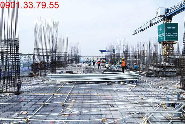 Thi công cốt thép sàn tầng 18 Block B dự án Lavita Garden Hưng Thịnh