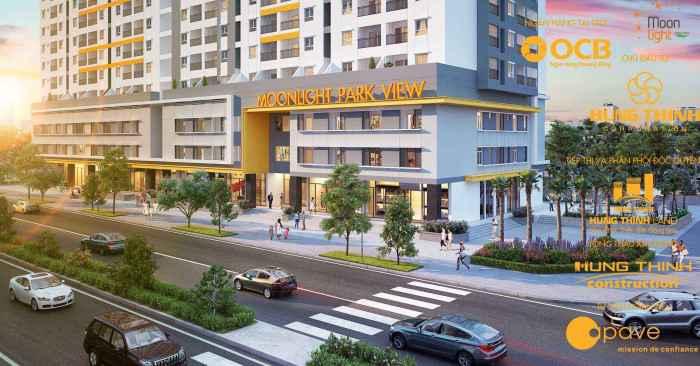 Dòng căn hộ giá rẻ Moonlight Park View tọa lạc đường số 7 quận Bình Tân, gần công viên Phú Lâm có giá từ 1,2tỷ/căn 2 phòng ngủ