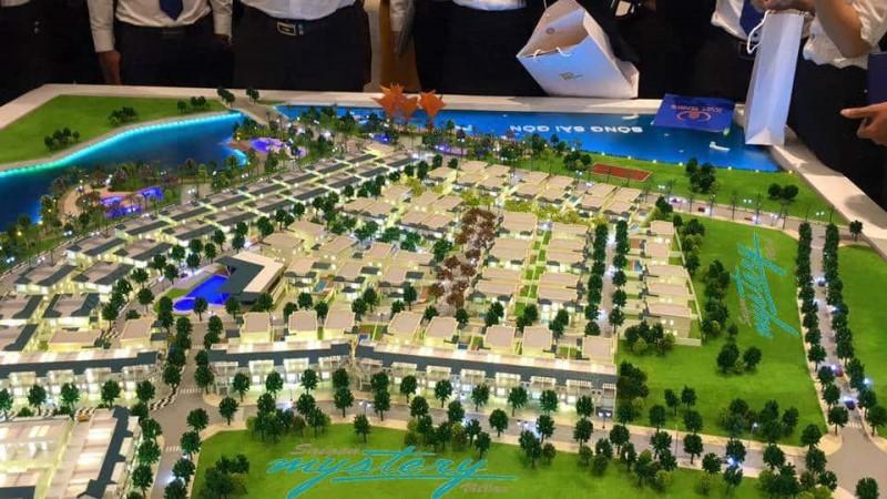 Mặt bằng tổng thể dự án nhà phố đất nền biệt thự Saigon Mystery Villas quận 2