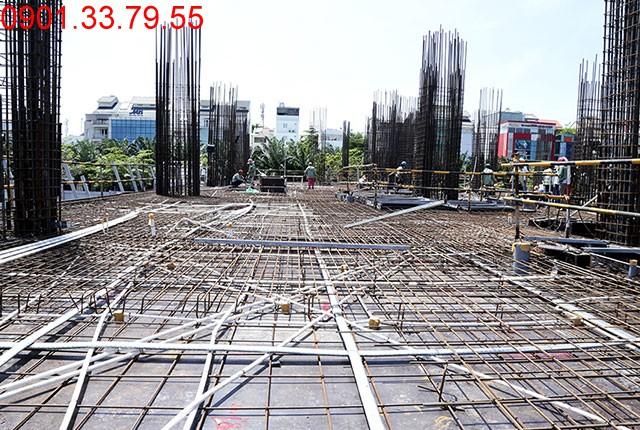 Thi công cốt thép sàn tầng 2 - block Northern căn hộ Sài gòn Mia Trung Sơn