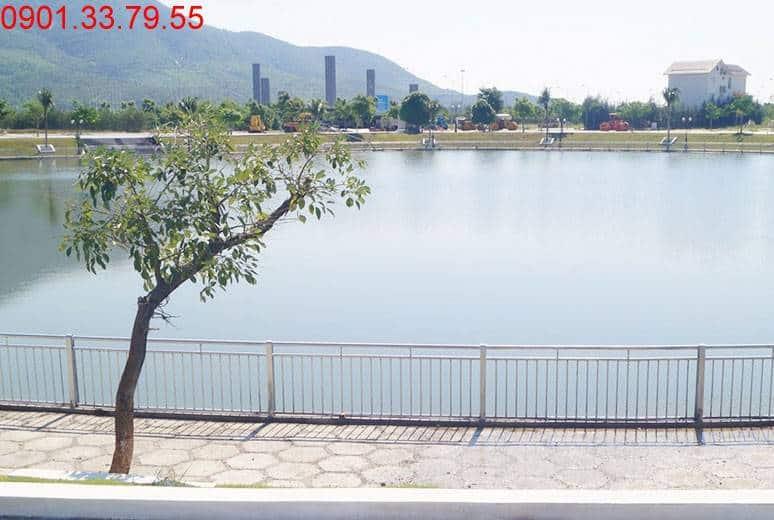 Hồ cảnh quan khu D17 Golden Bay Hưng Thịnh Cam Ranh