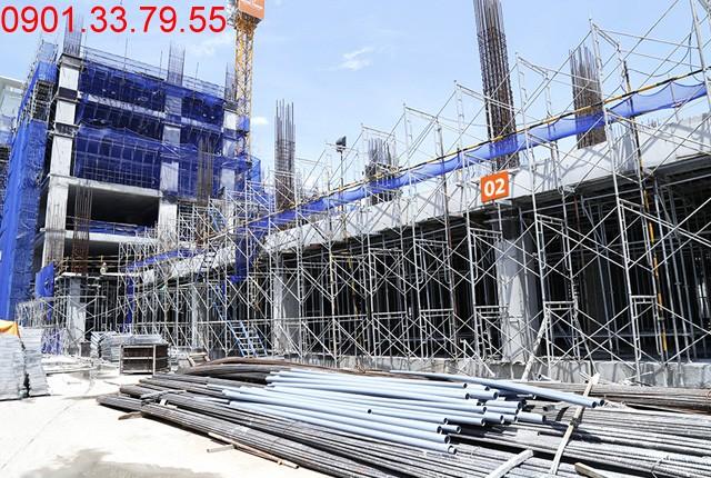 Thi công cột sàn tầng 3 - block Central Sài gòn Mia