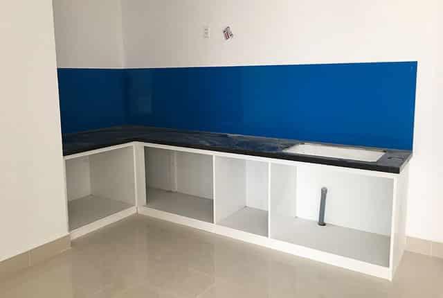 Lắp đặt tủ bếp từ tầng 7 đến tầng 19 block A chung cư Melody Vũng Tàu