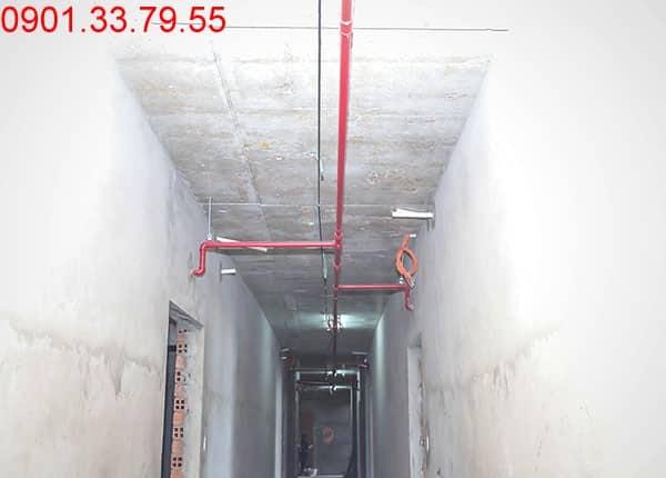 Thi công hệ thống PCCC từ tầng 2 đến tầng 18 - Block A, B, C, D cao ốc Florita
