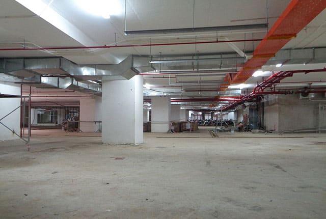 Công tác hoàn thiện tầng hầm dự án Melody Vũng Tàu