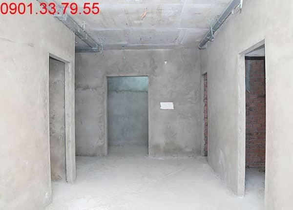 Tiếp tục thi công tô tường bao căn hộ từ tầng 4 đến tầng 18 - Block A, B, C, D căn hộ Florita Đức Khải