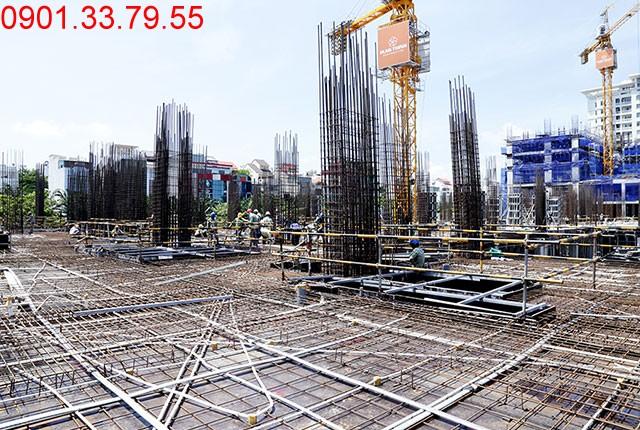 Thi công cốt thép sàn tầng 2 - block Northern căn hộ Sai gon Mia Hung Thinh