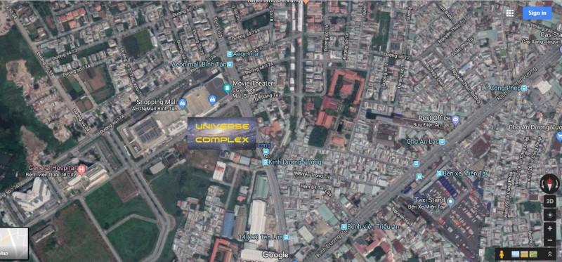 Vị trí dự án căn hộ Universe Complex