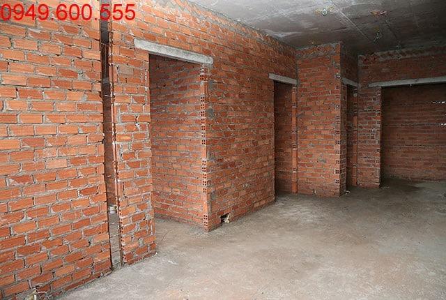 Xây tường bao căn hộ đến tầng 7 Block C dự án 9 View Apartment