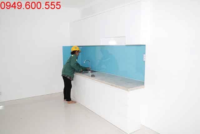 Lắp đặt tủ bếp căn hộ đến tầng 6 Block B, C dự án Florita Hưng Thịnh
