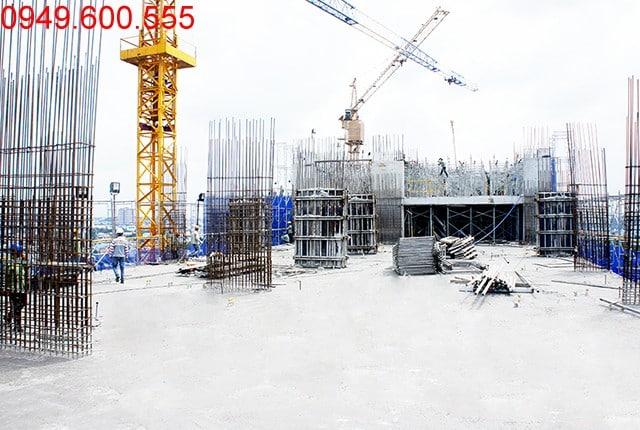 Thi công cột sàn tầng 16 Block A dự án 9 View quận 9