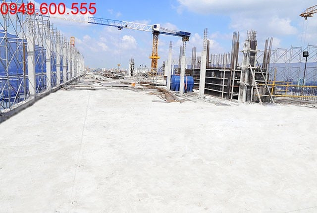 Hoàn thành đổ bê tông sàn tầng 18 Block B căn hộ 9 View Hưng Thịnh