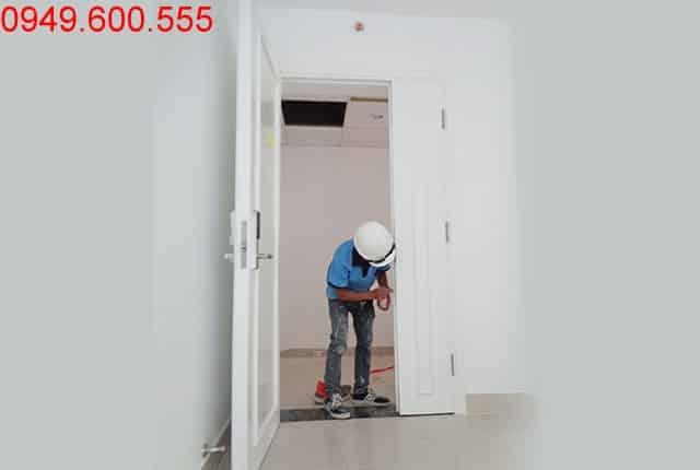 Lắp đặt cửa gỗ căn hộ block A và block B dự án Vũng Tàu Melody Hưng Thịnh