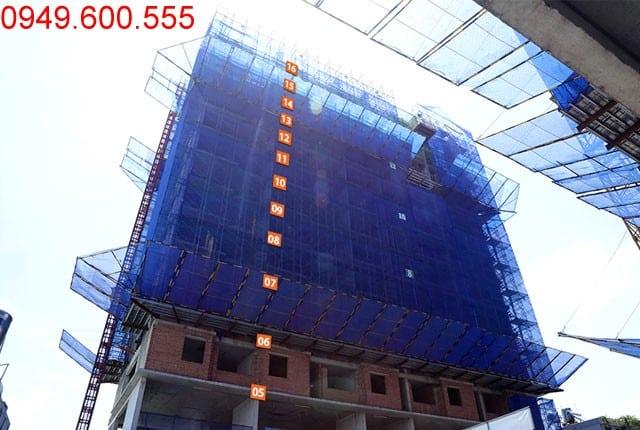Thi công cột sàn tầng 17 block C chung cư Moonlight Park View Bình Tân
