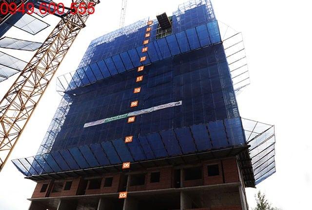 Hoàn thành đổ bê tông sàn tầng 18 block C dự án Moonlight Park View Hưng Thịnh
