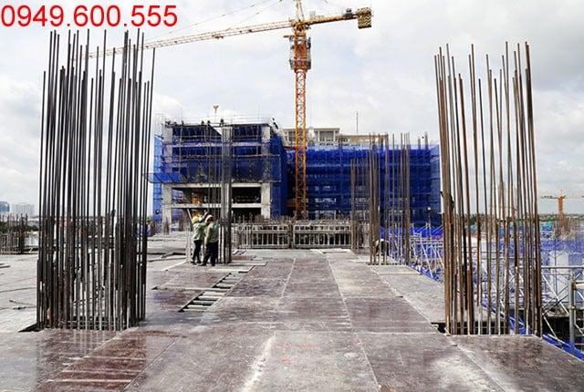 Thi công cốp pha sàn tầng 7 - block Central chung cư Sài Gòn Mia Hưng Thịnh