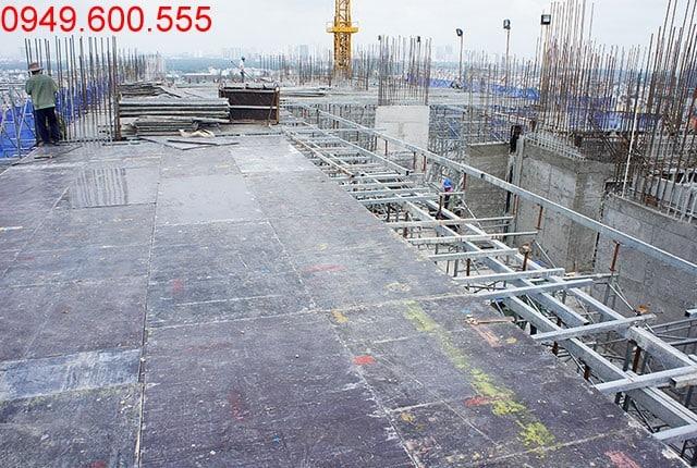 Thi công cốp pha sàn tầng 17 Block C dự án 9 View