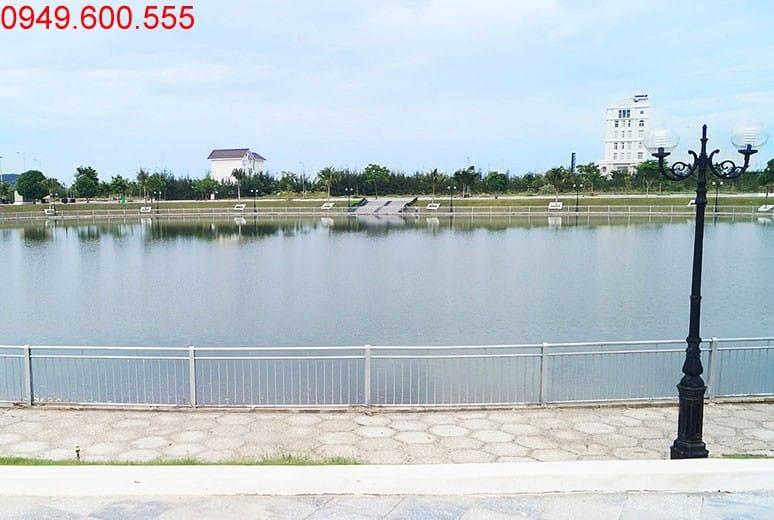 Hồ cảnh quan khu D17 dự án Golden Bay Cam Ranh Hưng Thịnh